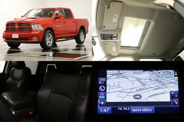 *SPORTY Red RAM 1500 4WD* 2012 Dodge *GPS - SUNROOF*
