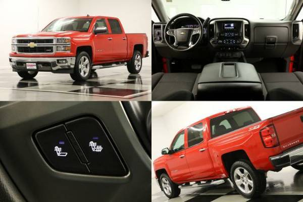 *LIKE NEW Red SILVERADO 1500 4X4* 2014 Chevy *CAMERA-5.3L V8*
