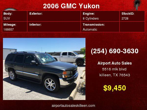 2006 GMC Yukon 4dr LEATHER, SUNROOF, DVD!!! with