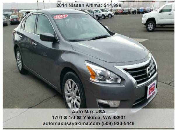 2014 NISSAN ALTIMA ONLY ONE LEFT AT 14499