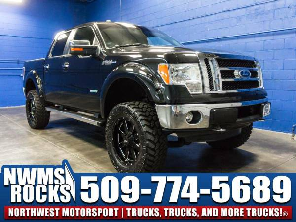Lifted 2012 *Ford F150* Lariat 4x4 - Clean Carfax History! 2012 Ford...