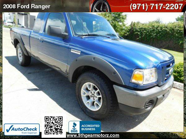 2008 Ford Ranger XLT FX4 4X4 w/Leather *38K MILES!* CALL!