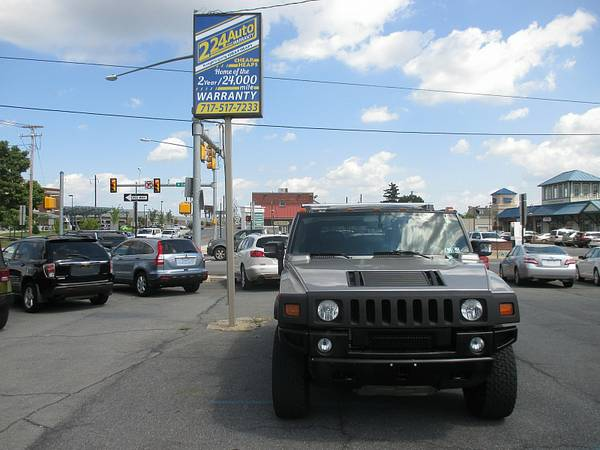 06 HUMMER H2 ONLY 46000 MILES! BLACK WHEELS, GRILL AND RUNNING BOARDS!
