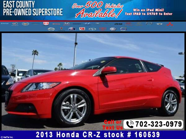 2013 Honda CR-Z EX Stock #160539