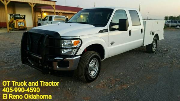 2012 Ford F-250 4wd Crew Cab Service Utility Bed 6.7 Diesel 4x4 F250