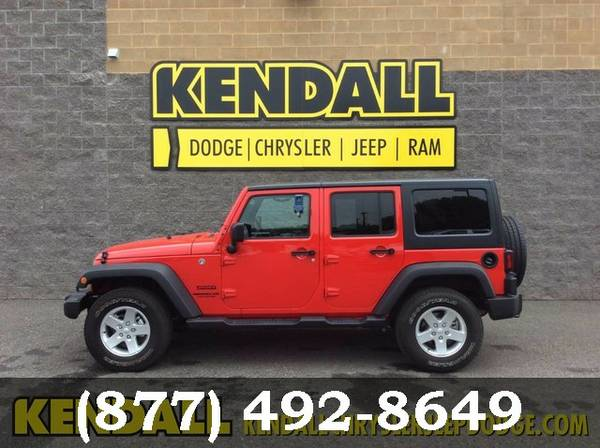 2016 Jeep Wrangler Unlimited Firecracker Red Clearcoat Best Deal!!!