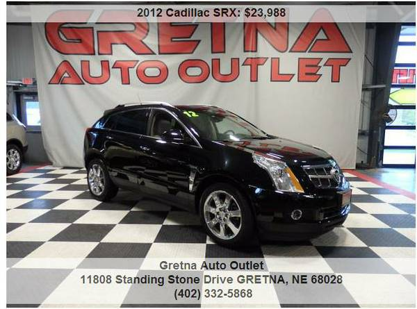 2012 Cadillac SRX*PREMIUM AWD PANORAMIC ROOF NAV DUAL REAR DVD 66K**