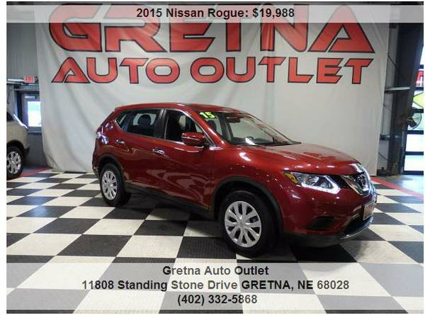 2015 Nissan Rogue**ONLY 34K BURGUNDY LOADED UP SUV LOW MILES**CALL US
