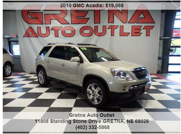 2010 GMC Acadia**SLT AWD 1 OWNER ONLY 89K DUAL MOONROOF REAR DVD**CALL