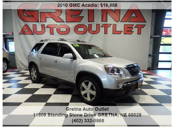 2010 GMC Acadia*SLT AWD DUAL ROOF DUAL REAR DVD LEATHER BOSE 1 OWNER!!