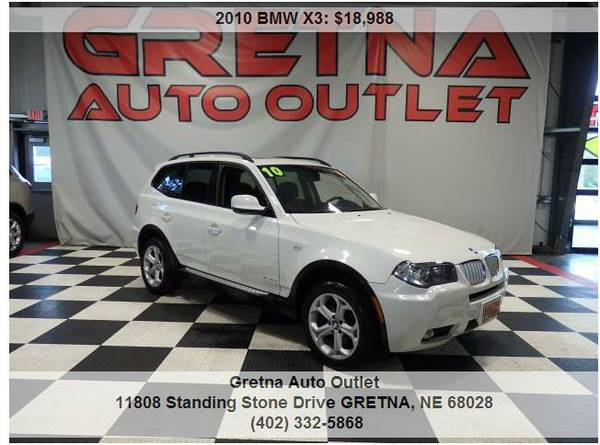 2010 BMW X3*XDRIVE 30i 1 OWNER 69K ALL HEATED SEATS PANORAMIC ROOF!!**