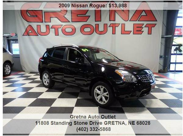 2009 Nissan Rogue*SL AWD ONLY 67K HEATED LEATHER MOONROOF BLUETOOTH!!*