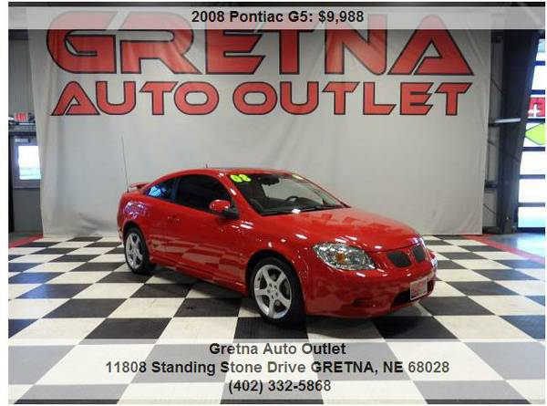 2008 Pontiac G5**HUSKER RED ONLY 81K HEATED LEATHER MOONROOF CLEAN CAR