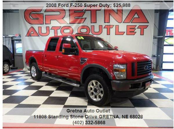 2008 Ford F-250*FX-4 CREW DIESEL 4X4 HEATED LEATHER MOONROOF 126K*CALL
