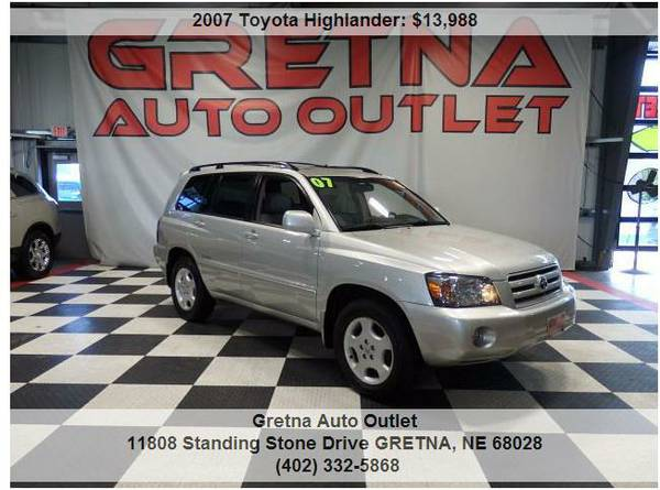 2007 Toyota Highlander*LIMITED AWD HEATED LEATHER MOONROOF JBL SOUND!!