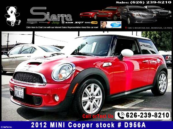 2012 MINI Cooper S S Hatchback -New on Job..Its Fine