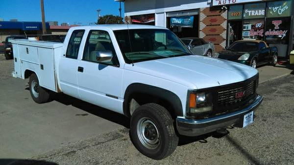 4WD..UTILITY BED...2500 GMC SIERRA Ext Cab