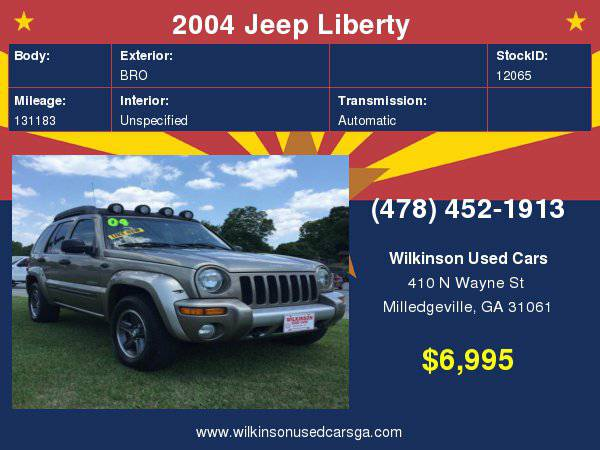 2004 Jeep Liberty Renegade 4dr SUV
