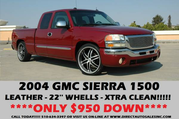 ►2004 GMC SIERRA 22' RIMS LOWERED!! $950DOWN SILVERADO...