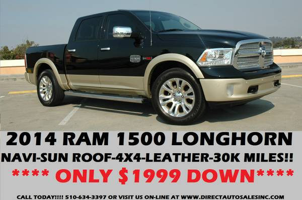 ♛2014 DODGE RAM LARAMIE LONG HORN LIMITED EDITION 4X4 TOP OF...