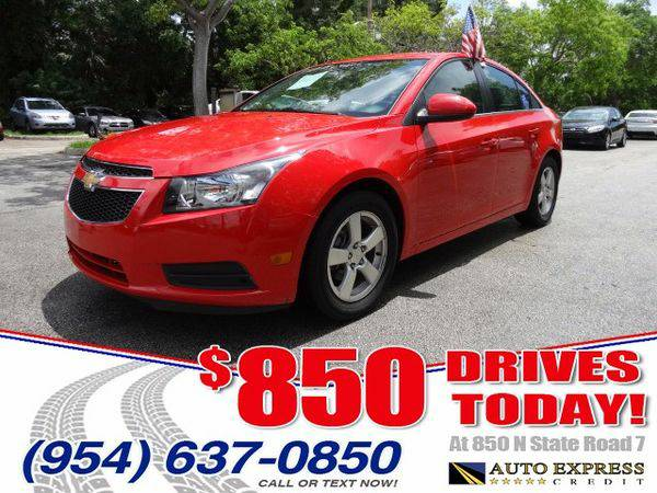 2014 *Chevrolet* *Cruze* 1LT Auto - $850 DRIVES AT 850 N STATE ROAD 7