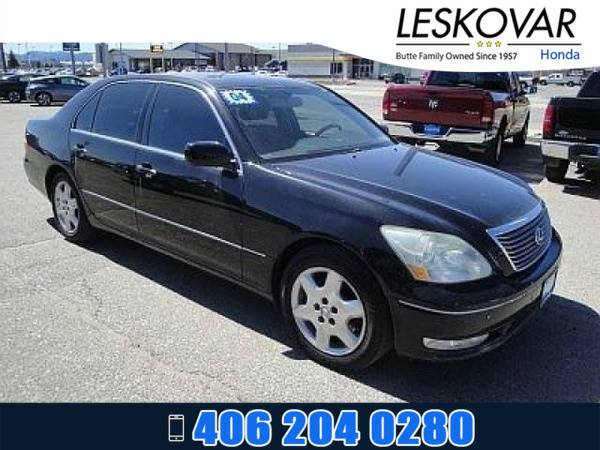 *2004* *Lexus LS 430* *4dr Car Base* *Black Onyx*