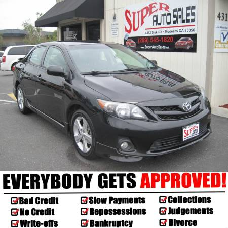 *$995 Down Gets You This 2011 Toyota Corolla Blk Type S!!