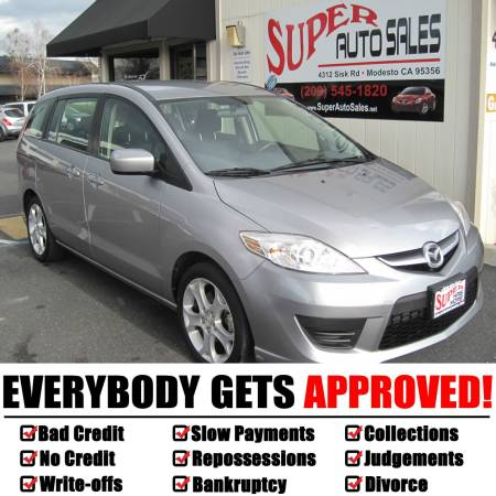 *$995 Down Gets You This 2010 Mazda 5 Minivan Gray!