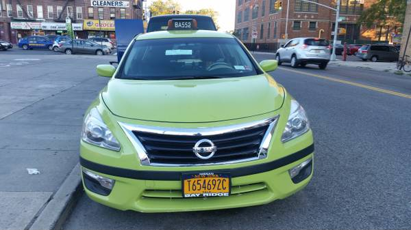 Green cab nyc taxi 2013 nissan altima