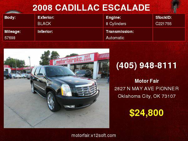 2008 CADILLAC ESCALADE LUXURY **You Are Approved!**