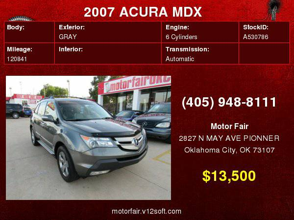 2007 ACURA MDX SPORT **You Are Approved!**