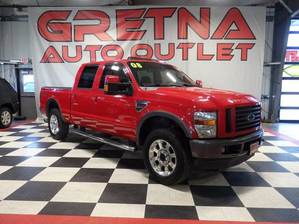 2008 Ford F-250 SD FX-4 CREW DIESEL 4X4 HEATED LEATHER MOONROOF 126K