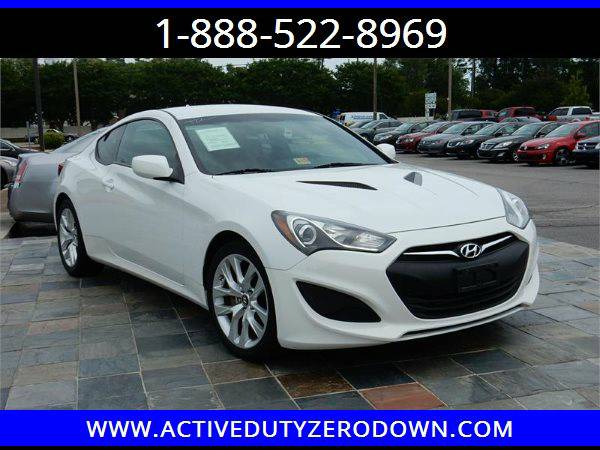 2013 HYUNDAI GENESIS COUPE 2.0T - MILITARY FINANCING - BAD CREDIT OK