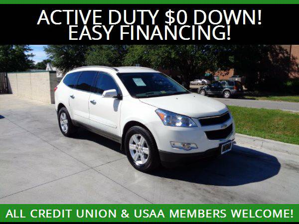 ★2012 Chevrolet Traverse LT AWD w/3RD ROW SEATS★=MILITARY