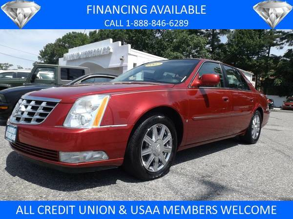 2007 CADILLAC DTS CRYSTAL RED
