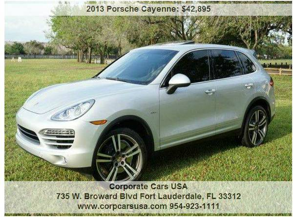 2013 Porsche Cayenne Turbo Diesel..1 owner clean vehicle...IMMACULATE!