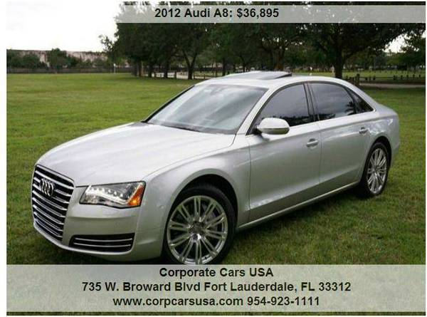 2012 Audi A8L 4.2L V8... Low miles and 100% clean carfax!!!