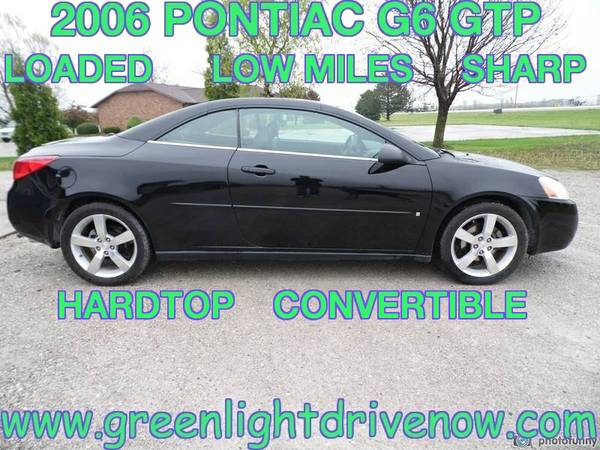 ** WARRANTY ** 2006 PONTIAC G6 GTP HARDTOP CONVERTIBLE ** SHARP **