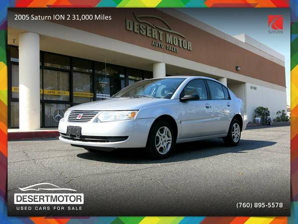 2005 Saturn ION 2 31,000 Miles Sedan with a GREAT COLOR COMBO!