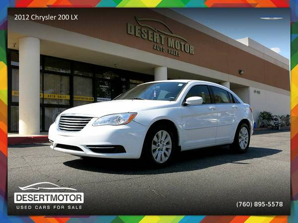 2012 Chrysler 200 LX low mileage Sedan in GREAT CONDITION!