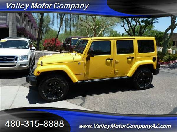 1-Owner 2015 Jeep Wrangler Unlimited Sahara 4WD Leather Nav