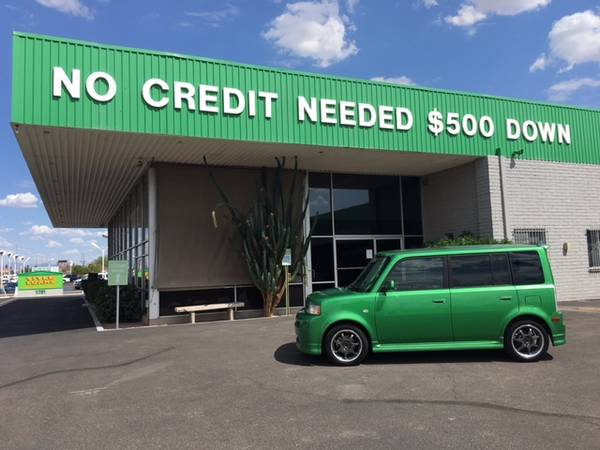 $500 down, no credit needed, any car on our lot