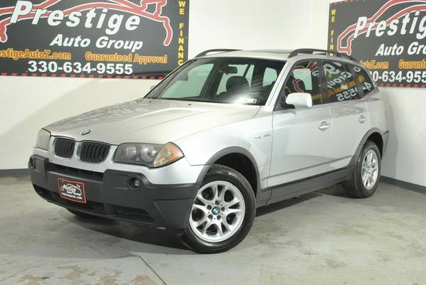 2004 BMW X3 2.5i-AWD, Panoramic Sunroof, FREE 6 Month Warranty!