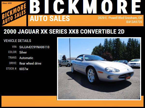 2000 *Jaguar* *XK* *Series* *XK8 Convertible 2D*
