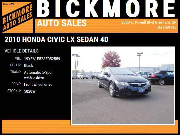 2010 *Honda* *Civic* *LX Sedan 4D*