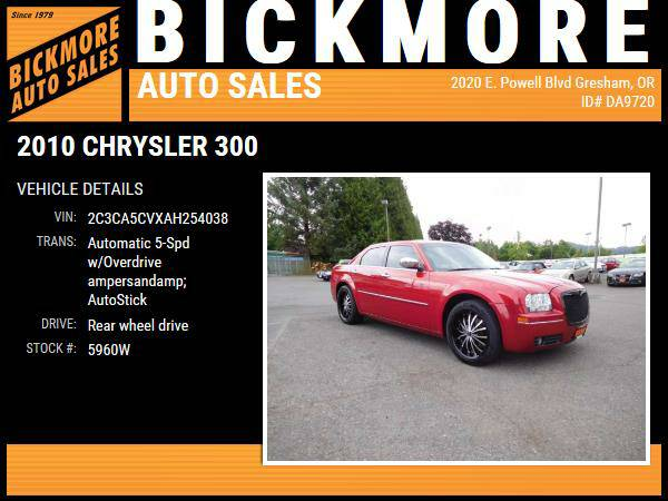 2010 *Chrysler* *300* *Touring Signature Sedan 4D*