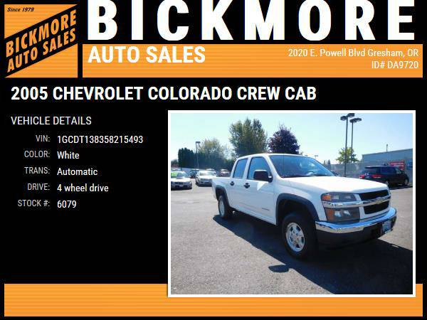 2005 *Chevrolet* *Colorado* *Crew* *Cab* *LS Pickup 4D 5 1/4 ft*