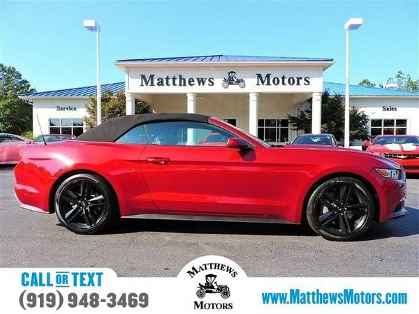 2016 Ford Mustang EcoBoost Premium Convertible Mustang Ford