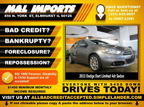 🌟 2013 *Dodge Dart* BAD CREDIT? Drive something NICE for...