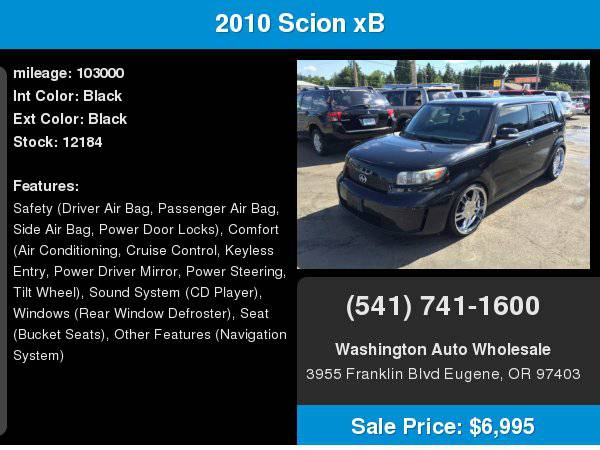 2010 Scion xB 5dr Wgn 5-Speed 103,000Miles Loaded